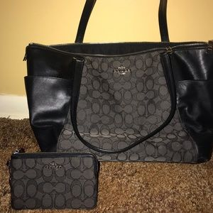 Black Coach purse and wallet